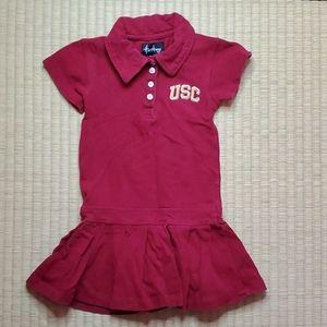 USC Trojans Polo Dress w/ Pleated Hem,  24M
